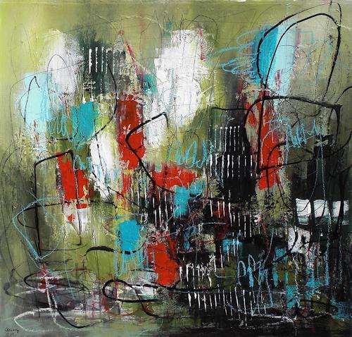 Conny, Blossom out, Gefühle: Geborgenheit, Abstraktes, Abstrakter Expressionismus