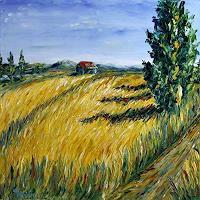 Claudia-Hansen-Landschaft-Sommer-Landschaft-Ebene-Moderne-Impressionismus-Postimpressionismus
