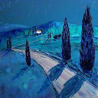 Claudia-Hansen-Landschaft-Sommer-Romantik-Sonnenuntergang-Moderne-Impressionismus-Postimpressionismus