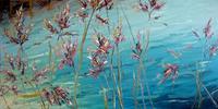 Claudia-Hansen-Landschaft-See-Meer-Pflanzen-Blumen-Moderne-Impressionismus-Postimpressionismus