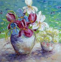 Claudia-Hansen-Pflanzen-Blumen-Zeiten-Sommer-Moderne-Impressionismus-Postimpressionismus