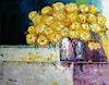 Claudia Hansen, Stillleben mit gelben Rosen