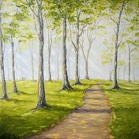 Claudia-Hansen-Pflanzen-Baeume-Landschaft-Sommer-Moderne-Impressionismus-Postimpressionismus
