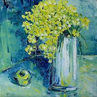 Claudia-Hansen-Pflanzen-Blumen-Stilleben-Moderne-Expressionismus-Neo-Expressionismus