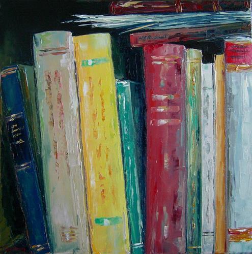 Claudia Hansen, Bücher Stilleben | Bibliothek, Gesellschaft, Stilleben, Postimpressionismus