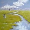 Claudia Hansen, Graue Kraniche im Moor