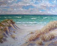Claudia-Hansen-Landschaft-See-Meer-Landschaft-Sommer-Moderne-Impressionismus-Postimpressionismus
