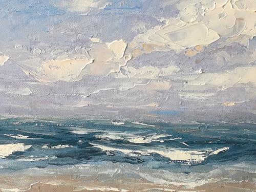 Claudia Hansen, Meereslandschaft, Landschaft: See/Meer, Landschaft: Strand, Postimpressionismus, Expressionismus