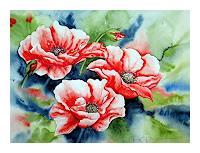 M. Inhoven, Mohnblüten im Wind