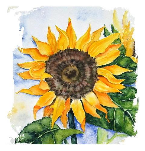 Maria Inhoven, Here comes the sun..., Dekoratives, Pflanzen: Blumen, Naturalismus