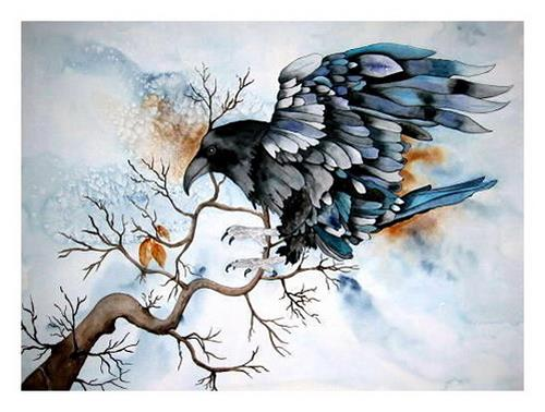 Maria Inhoven, Magic of the Raven, Mythologie, Tiere: Luft, Naturalismus
