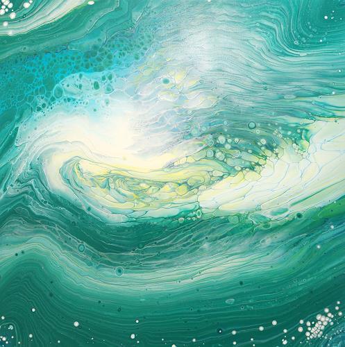 Maria Inhoven, Swirl 2, Abstraktes, Dekoratives, Abstrakte Kunst, Expressionismus