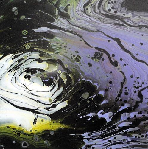 Maria Inhoven, Dunkler Swirl, Abstraktes, Dekoratives, Abstrakte Kunst, Expressionismus