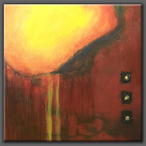 Nele Kugler, Leuchtfeuer, Abstraktes, Symbol, Abstrakte Kunst