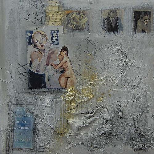 Nele Kugler, Geheimnisse schaffen....., Abstraktes, Gesellschaft, Gegenwartskunst, Abstrakter Expressionismus