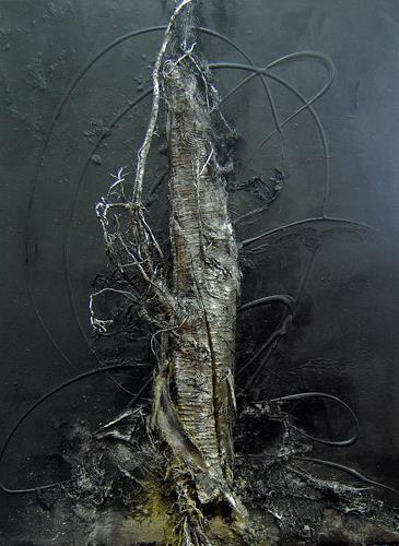 Nele Kugler, der Nachtbaum, Abstraktes, Natur: Wald, Gegenwartskunst, Abstrakter Expressionismus