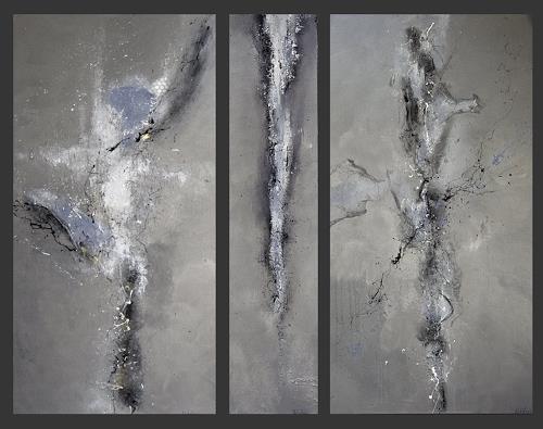 Nele Kugler, silver & steel, Abstraktes, Fantasie, Gegenwartskunst