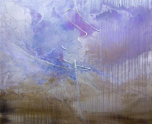 Nele Kugler, Gezeitenspiel, Abstraktes, Landschaft: See/Meer, Gegenwartskunst, Expressionismus