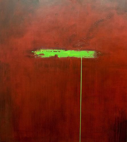 Nele Kugler, green mile, Abstraktes, Fantasie, Gegenwartskunst, Abstrakter Expressionismus