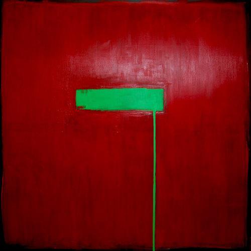 Nele Kugler, green mile II, Abstraktes, Gesellschaft, Gegenwartskunst, Abstrakter Expressionismus