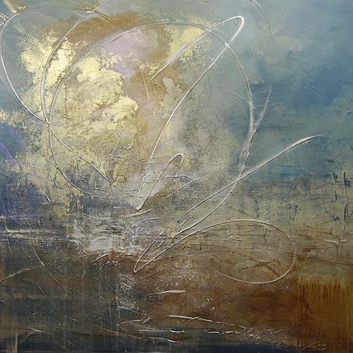 Nele Kugler, Gezeitenspiel II, Abstraktes, Landschaft: See/Meer, Gegenwartskunst