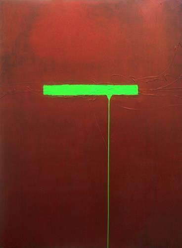 Nele Kugler, green mile III, Abstraktes, Gesellschaft, Gegenwartskunst, Abstrakter Expressionismus