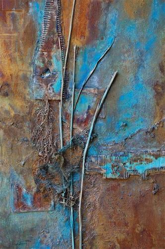 "Nele Kugler, Detailaufnahme ""Horizonte, Gefühle, Abstraktes, Gegenwartskunst, Expressionismus"