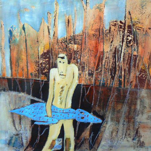Gerda Lipski, krokodil dummi, Abstraktes, Jagd, Abstrakter Expressionismus