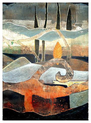 Gerda Lipski, o.T., Landschaft: Berge, Fantasie