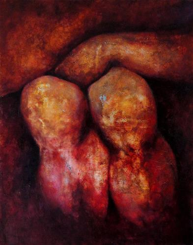 Gerda Lipski, männl. Knie, Akt/Erotik: Akt Mann, Menschen: Mann