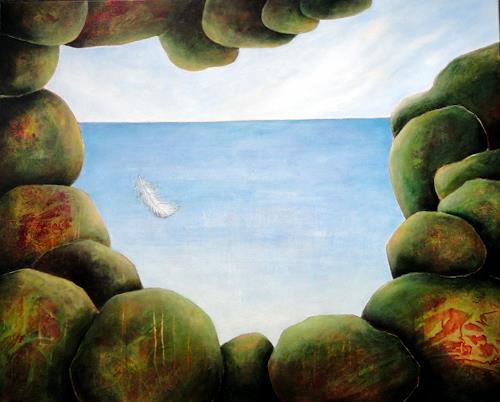 Gerda Lipski, o.T., Landschaft: See/Meer, Diverse Gefühle