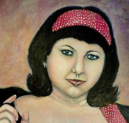 """Gerda Lipski, Ausschnitt aus """"retro power, Menschen: Frau, Menschen: Gesichter"""