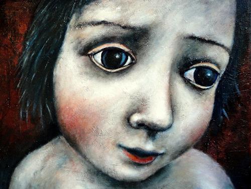 Gerda Lipski, o.T., Diverse Gefühle, Menschen: Porträt, Expressionismus