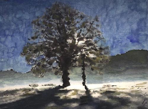 Eva-Maria Müller, Strahlend, Landschaft: Ebene, Impressionismus