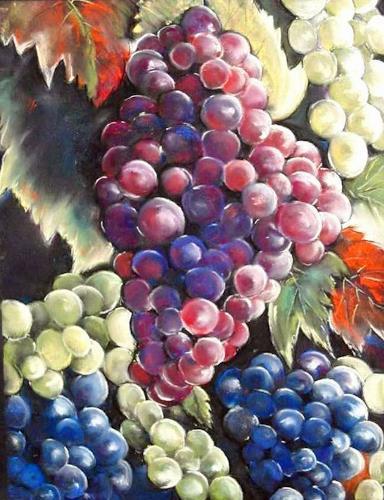 Ute Kleist, Ein guter Jahrgang, Ernte, Pflanzen: Früchte, Gegenwartskunst, Expressionismus