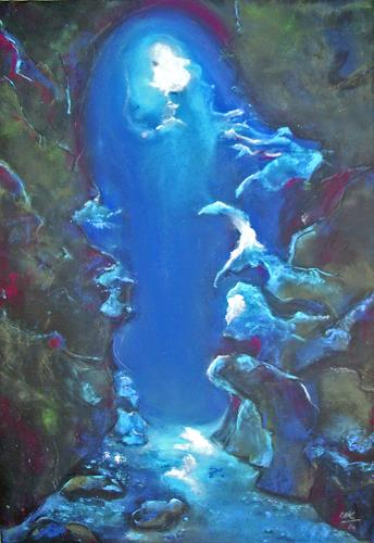 Ute Kleist, mysterious, Natur: Wasser, Skurril, Gegenwartskunst, Expressionismus