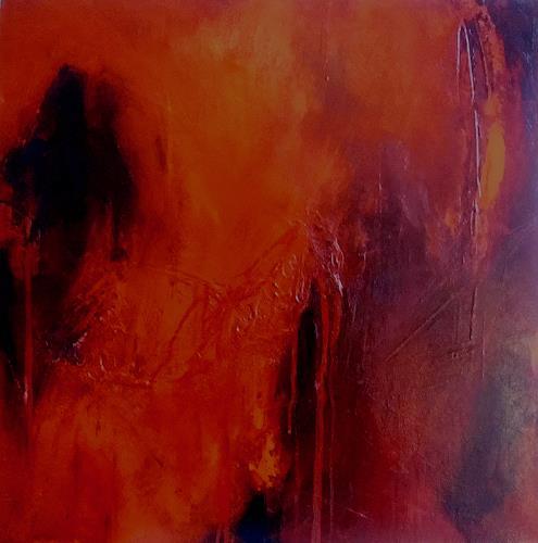 Ute Kleist, Feuer und Flamme, Abstraktes, Abstraktes, Gegenwartskunst, Expressionismus