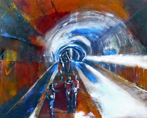 Ute Kleist, Dieser Weg, Bewegung, Gegenwartskunst, Expressionismus