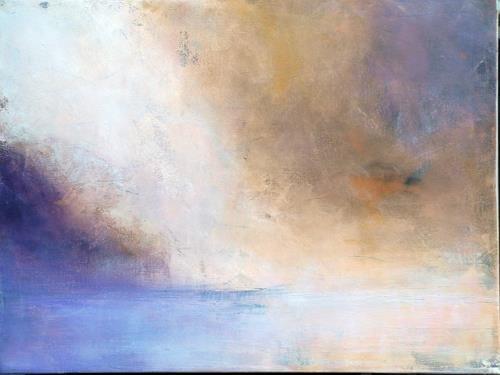 Ute Kleist, oben angekommen, Abstraktes, Natur: Wasser, Gegenwartskunst, Expressionismus