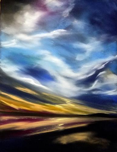Ute Kleist, und über uns der Himmel, Natur: Luft, Gegenwartskunst, Expressionismus