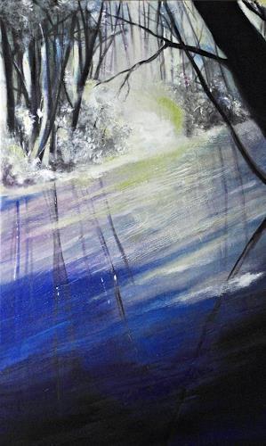 Ute Kleist, Gleichklang, Natur: Wasser, Poesie, Gegenwartskunst, Expressionismus