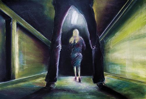 Ute Kleist, Lange Schatten, Gesellschaft, Situationen, Gegenwartskunst, Abstrakter Expressionismus