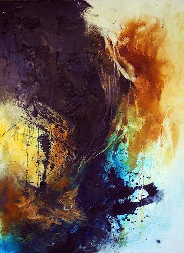 Ute Kleist, Klang der Worte, Abstraktes, Poesie, Gegenwartskunst, Abstrakter Expressionismus