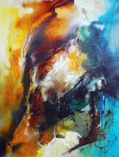 Ute Kleist, Entfaltung, Abstraktes, Bewegung, Gegenwartskunst