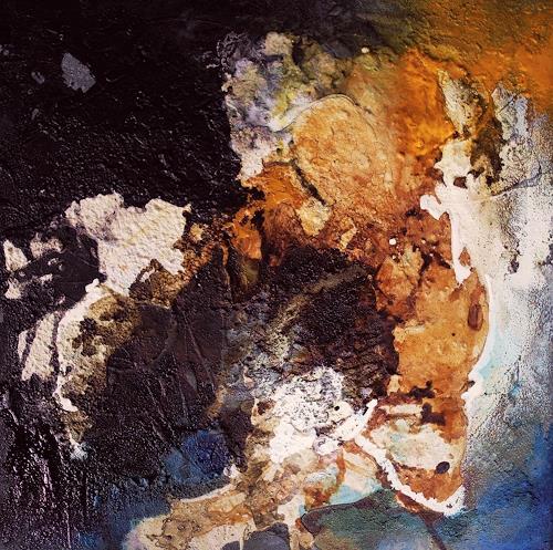 Ute Kleist, ein letztes Blau I, Abstraktes, Gegenwartskunst