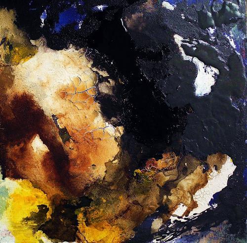 Ute Kleist, ein letztes Blau III, Abstraktes, Gegenwartskunst, Abstrakter Expressionismus