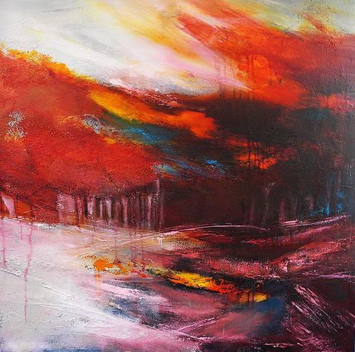 Ute Kleist, Übergangsweise, Natur, Gefühle, Abstrakte Kunst, Expressionismus