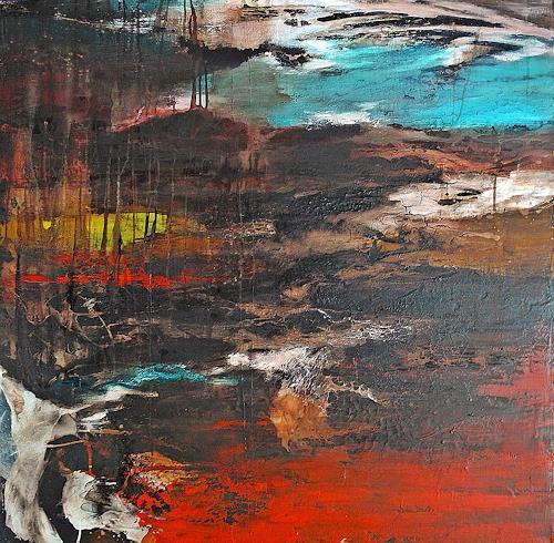 Ute Kleist, Treibgut, Landschaft, Zeiten, Expressionismus, Abstrakter Expressionismus