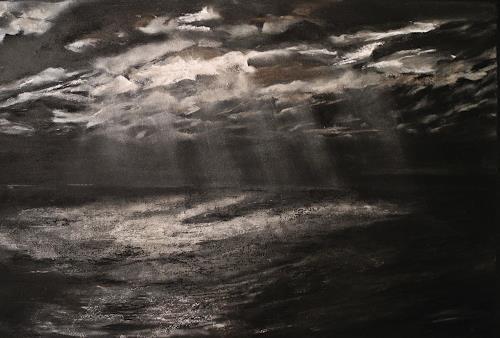 Ute Kleist, Ich suche den Mond, Poesie, Situationen, Gegenwartskunst, Abstrakter Expressionismus