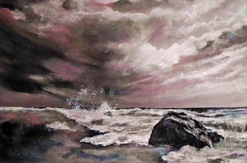 Ute Kleist, Rosarot, Diverse Gefühle, Gegenwartskunst, Abstrakter Expressionismus